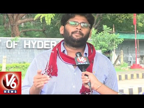 Students Union Elections in Hyderabad Central University | V6 News