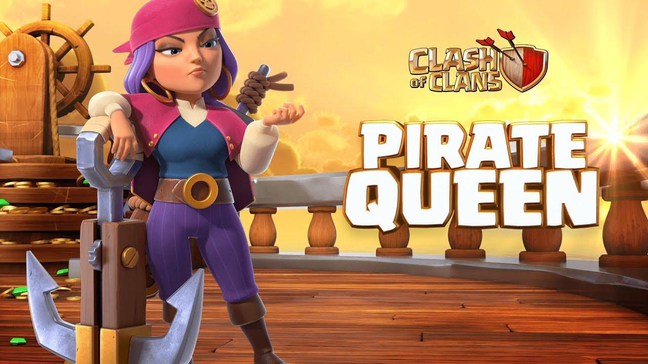 Pirate Queen - Nữ Hoàng Hải Tặc | SKIN QUEEN THÁNG 9 SIÊU ĐẸP | Clash of Clans