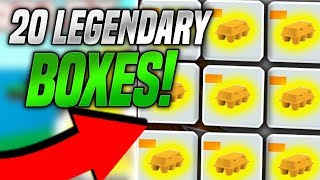 UNBOXING 20 LEGENDARY BOXES IN EGG FARM SIMULATOR! (Roblox)