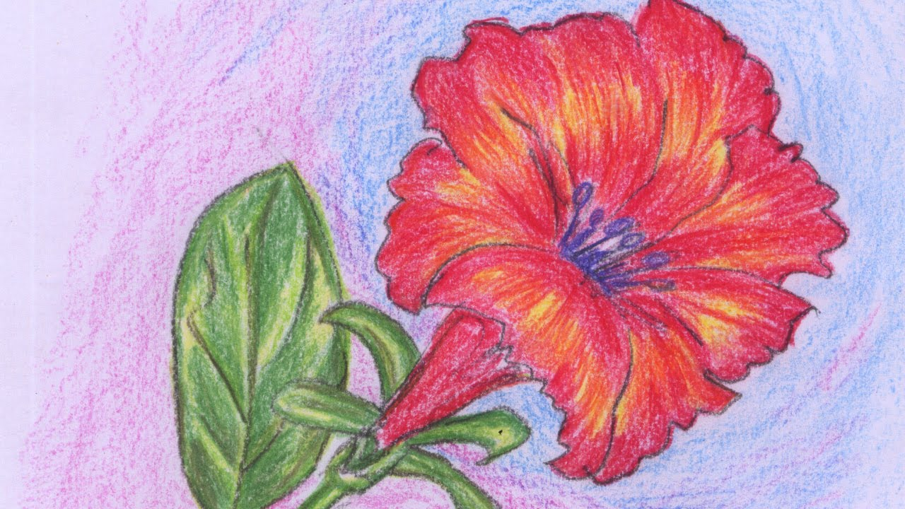 Beautiful Flower Painting Easy Method Youtube