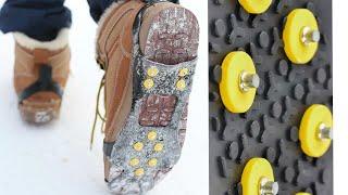 ШИПЫ НА ОБУВЬКак ходить в гололед Ледоходы для обуви  с АлиЭкспресс.