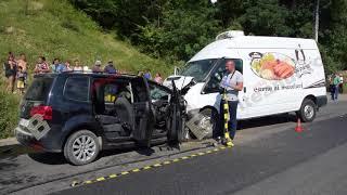 Accident mortal in Muresenii Bargaului, impact frontal intre un autoturism si o autoutilitara