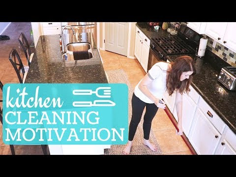 DIRTY KITCHEN SPEED CLEANING MOTIVATION // CLEAN WITH ME // STAY AT HOME MOM