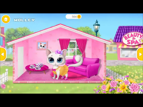 Fun Animals Care - My Cute Little Cat - Pet Care Makeover, Clean Potty Learn Colors Kids Games