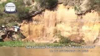 Desmoronamiento de barrancas en el rio Parana