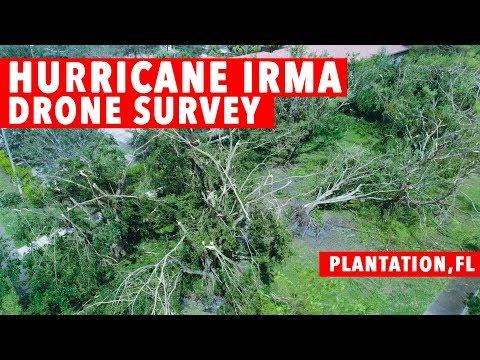 Hurricane Irma Drone Damage Survey Plantation,FL