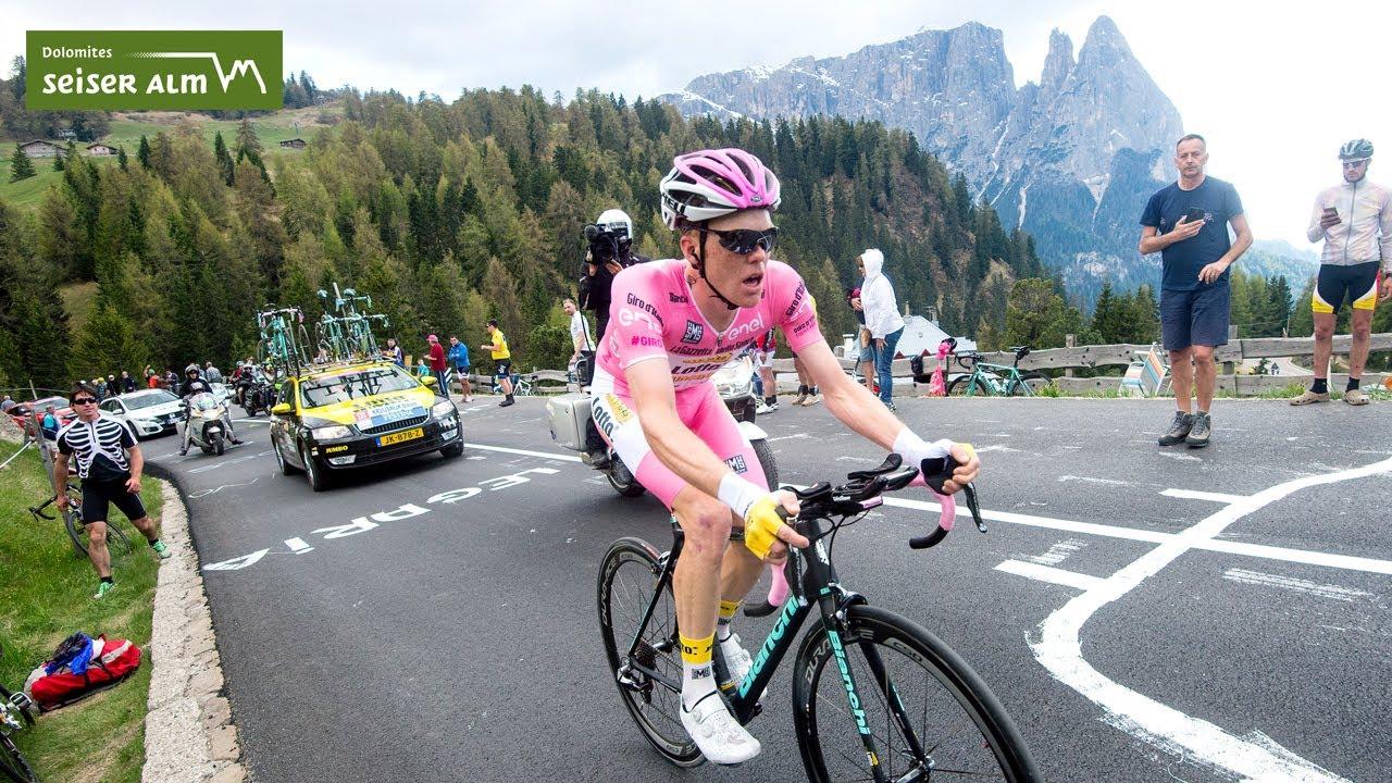 Peter Fill in anteprima sul percorso della 15a tappa del Giro d'Italia