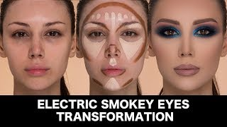 Electric Smokey Eyes Transformation by Samer khouzami