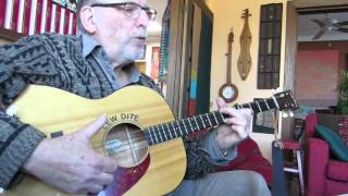 Wreck On the Highway (tenor guitar thumb picking)