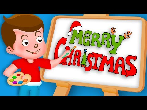 Drawing Marry Christmas Paint And Colouring For Kidz Kidz Drawing TV