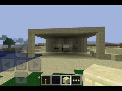 how to make a simple minecraft pocket edition house - youtube