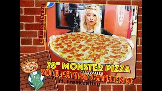 "SOLO 7LB 28"" MONSTER PIZZA UNDEFEATED EATING CHALLENGE 