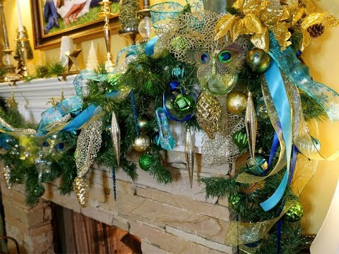 holiday-peacock-mantel-|-inspiration-recreation-for-less