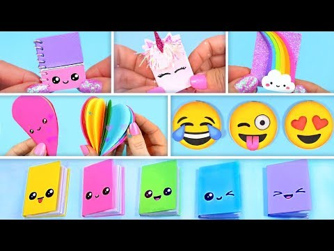 6 DIY How to Make Mini Notebooks ~ Back to School