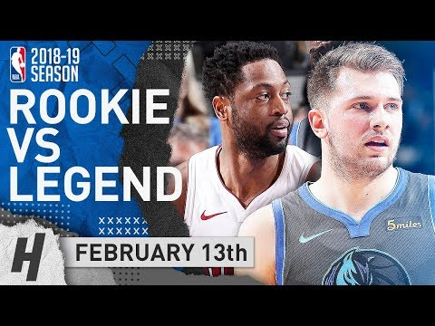 Dwyane Wade FINAL Game in Dallas! SICK Duel vs Luka Doncic 2019.02.13 | NBA Highlights