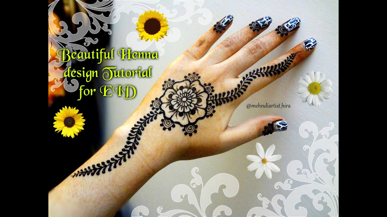 Mehndi For The Inspired Artist : Easy simple mandala gol tikki mehndi designs for hands tutorial