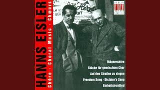 2 Lieder, Op. 48: 2 Lieder, Op. 48: No. 1. Bankenlied