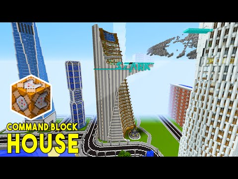 STARK TOWER IN MINECRAFT!! (w/ Command Block Creations) - Command Block House