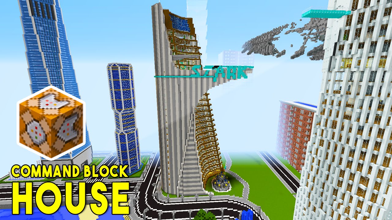 Stark Tower In Minecraft    W   Command Block Creations  - Command Block House