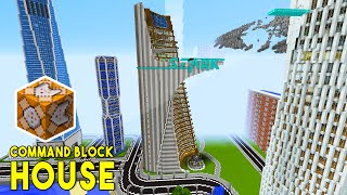 stark tower in minecraft w command block creations command block house