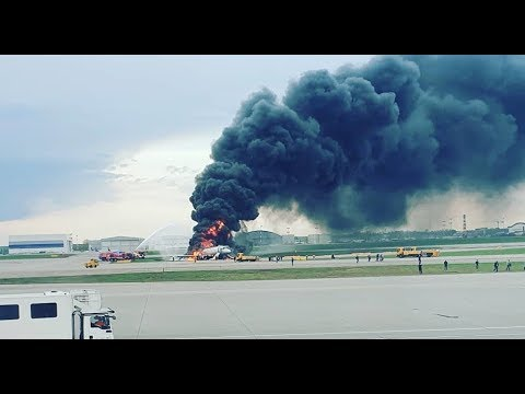 Aftermath: Plane Catches Fire at Moscow's Sheremetyevo Airport During Hard Landing