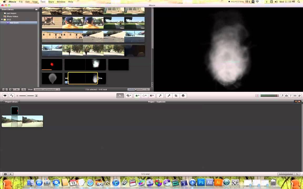 iMovie Explosion Effect