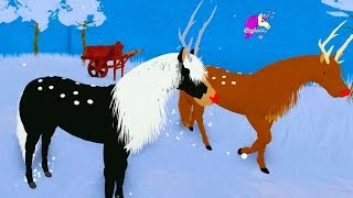 Winter Deer Horses in Winter Snow Roblox Horse World Online Video Game