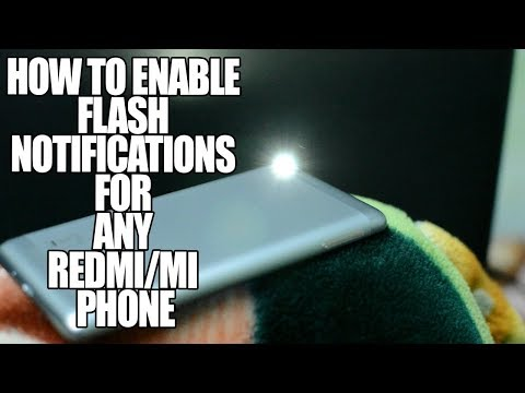 How to enable Flash Light Notification for incoming calls in xiaomi phones ??