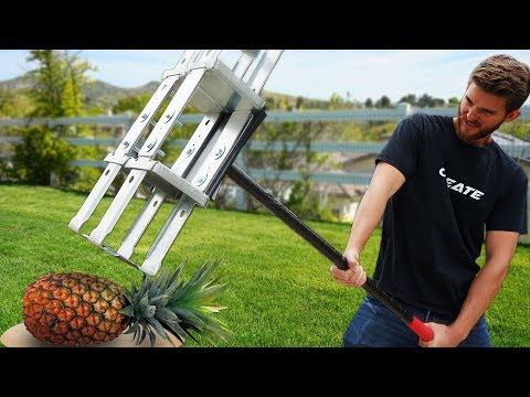 We built the ULTIMATE Apocalypse Survival Sledge Hammer!! *VS FRUIT*