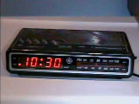1993 Ge Digitial Clock Radio Youtube
