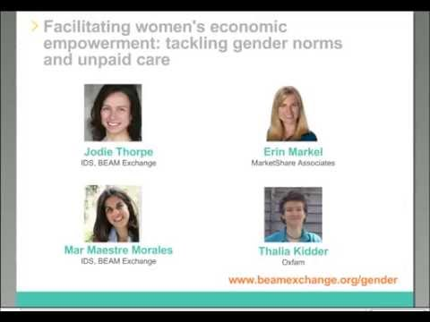 Webinar: Facilitating women's economic empowerment: tackling gender norms and unpaid care