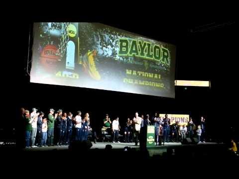 Baylor Lady Bears 2012 NCAA Championship Celebration 4-4-2012 Waco, Texas