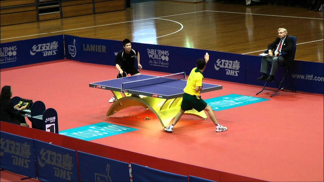 oceania table tennis olympic phillip xiao v david powell stage 2 partial youtube