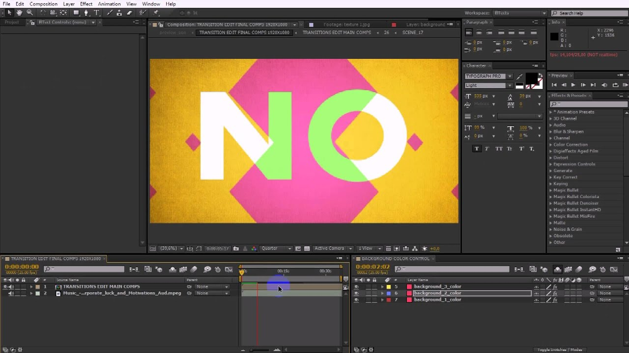 50 Transitions Pack with Opener After Effects Template - YouTube
