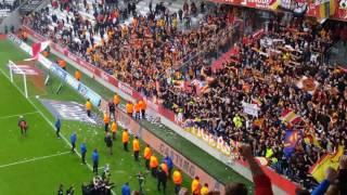 Reims - Lens, ambiance fin de match et clapping !!
