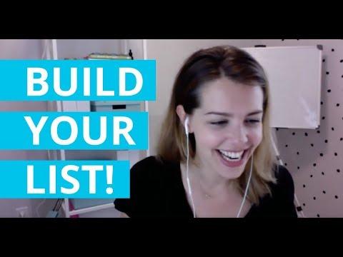 My 3 FAVORITE List Building Strategies