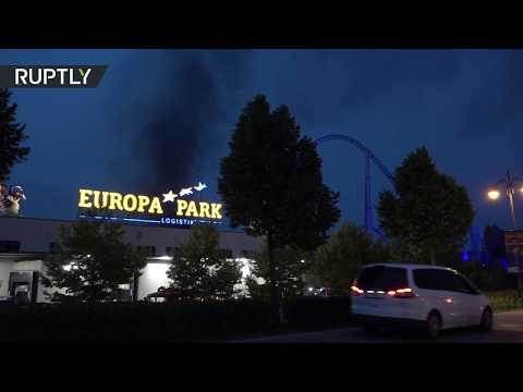 Massive fire rips through Europe's 2nd largest theme park