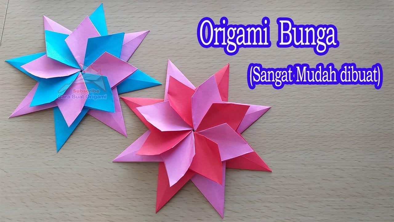 Origami Bunga Sangat Mudah Membuatnya Dari Kertas Lipat Youtube