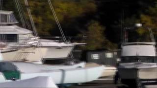 Fall at Hamlin's Marina in Maine