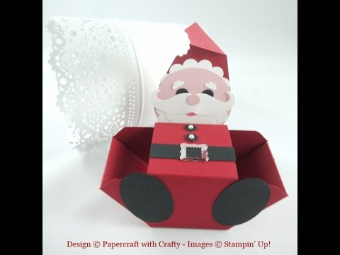 Santa - Envelope Punch Board Treat Box - YouTube - Santa Envelopes