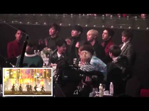 160114 VIXX, SHINee, Taeyeon, BoA Reaction To BTOB Performance @SMA (fancam)