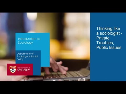 The Sociological Imagination - Private Troubles, Public Issues