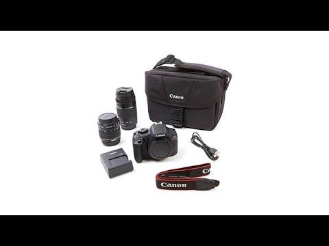 Canon EOS T6 18MP Camera + 1855mm   75300mm Lenses