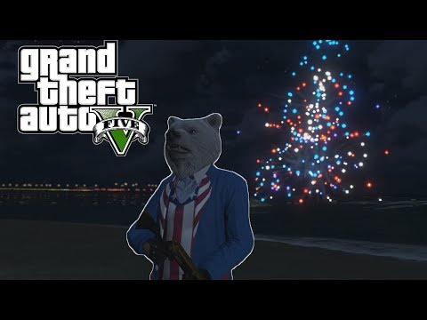 GTA V Online Funny Moments - Operation: Liberation, Fireworks Fun, and The eCola Bear!