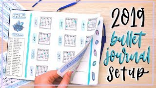 My 2019 Bullet Journal Setup || Migrating Into a New Bullet Journal