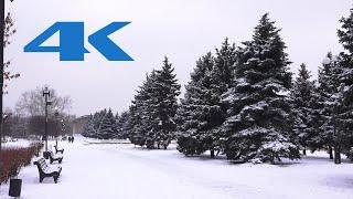 В Мариуполь пришла настоящая зима (ВИДЕО 4К)