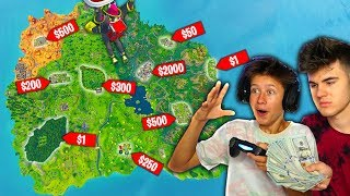 RANDOM LANDING SPOT *MONEY* CHALLENGE in Fortnite Battle Royale!