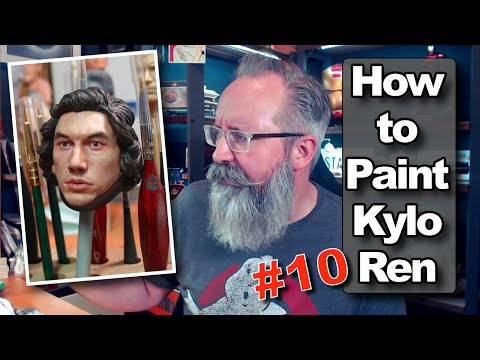 Kylo Ren Action Figure Painting Tutorial #10 - How To Paint 1/6 Star Wars