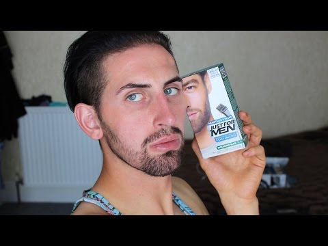 DYING MY BEARD! Just For Men Review - YouTube