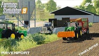 Silage harvest | Animals on Ravenport | Farming Simulator 19 | Episode 4